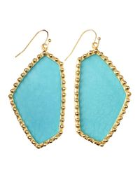 Kendra Scott | Blue Hutton Large Stone Earrings | Lyst