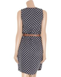 MICHAEL Michael Kors - Blue Polka-dot Silk Dress - Lyst