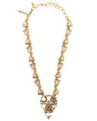 Oscar de la Renta | Metallic Bold Multi-crystal Statement Necklace | Lyst