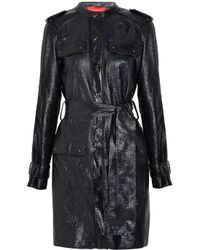 Lanvin | Black Coated Texturedleather Jacket | Lyst