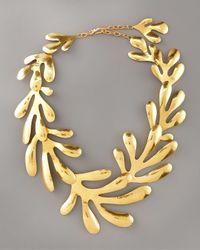 Herve Van Der Straeten - Metallic Coral Bib Necklace - Lyst
