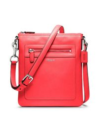 COACH - Red Legacy Leather Swingpack - Lyst