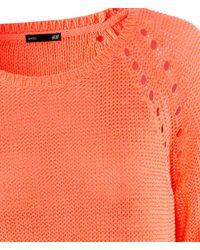 H&M - Orange Jumper - Lyst