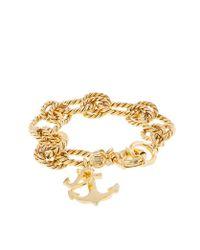 J.Crew | Metallic Anchor Charm Bracelet | Lyst