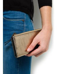 Mango - Touch Metallic Leather Wallet - Lyst