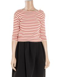 M.i.h Jeans | Red Breton Striped Cotton Top | Lyst