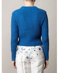 Acne | Blue Lia Waffleknit Sweater | Lyst