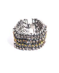 DANNIJO - Metallic Four Chain Bracelet - Lyst