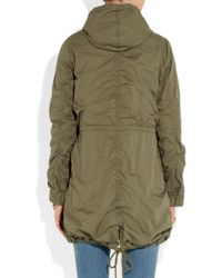 J.Crew - Green Hooded Cotton Parka - Lyst