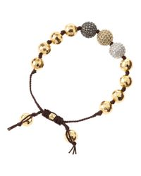 Tai | Metallic Golden Mixed Cubic Zirconia Bracelet | Lyst