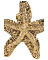 Saint Laurent | Metallic Starfish Earring | Lyst