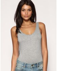 ASOS Collection - Gray Asos Basic Scoop Back Vest Body - Lyst