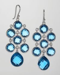 Elizabeth Showers | London Blue Topaz Cascade Earrings | Lyst
