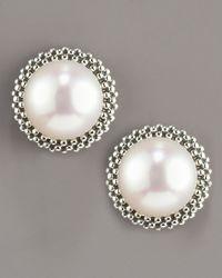 Lagos | White 8.5mm Pearl Caviar Earrings | Lyst