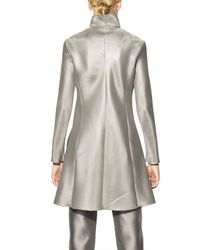 Giorgio Armani - Metallic Heavy Techno Silk Organza Coat - Lyst