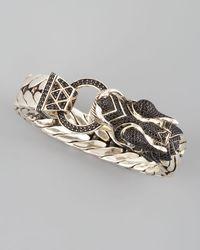 John Hardy - Black Naga Dragon Head Bracelet - Lyst