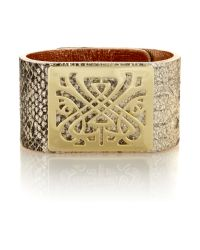 Biba | Metallic Leather Wrist Cuff | Lyst