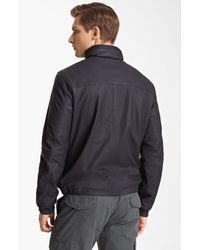 Zegna Sport | Blue Reversible Leather Bomber Jacket for Men | Lyst
