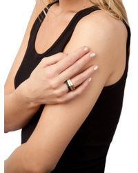 BaubleBar - Black Gold Fold Ring - Lyst