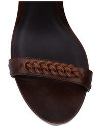 Bottega Veneta - Brown Contrast-wedge Leather Sandals - Lyst