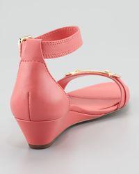 Elie Tahari - Pink Gemma Lowwedge Sandal Coral - Lyst