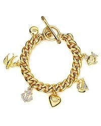Juicy Couture - Metallic Knots Anchors Sailor Girl Charm Bracelet - Lyst