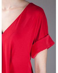 Balenciaga | Red Pleated Dress | Lyst