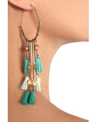Isabel Marant - Metallic Bone and Leather Tassel Earrings - Lyst