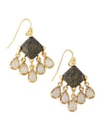 Kendra Scott - Brown Lotus Avon Earrings - Lyst