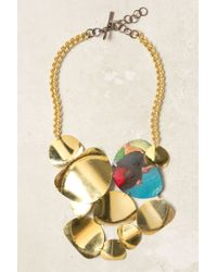 Sibilia | Metallic Sunshower Bib Necklace | Lyst