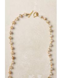 Anthropologie - Metallic White Ocean Jasper Necklace - Lyst
