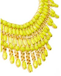 ASOS | Yellow Opaque Stone Bib Necklace | Lyst