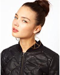 Tatty Devine | Metallic Oversized Peace Drop Earrings | Lyst