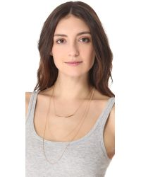 Kristen Elspeth   Metallic Layered Arc Necklace   Lyst