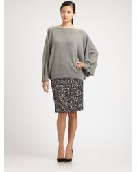 Lafayette 148 New York - Gray Cashmere Dolman Sweater - Lyst