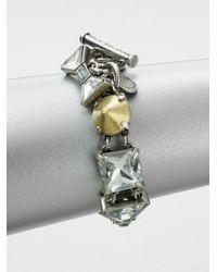 Marc By Marc Jacobs - Metallic Mixed Stones Link Bracelet - Lyst
