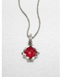 Stephen Webster | Red Faceted Sterling Silver Pendant Necklace | Lyst