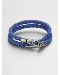 Tod's | Metallic Double Wrap Bracelet for Men | Lyst