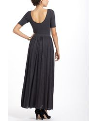 Anthropologie | Gray Scoopback Maxi Dress | Lyst