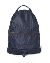 A.P.C. - Blue Suede Trimmed Backpack for Men - Lyst