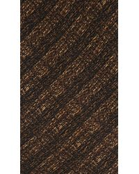 Burberry Prorsum - Brown Striped Jacquard Silk Tie for Men - Lyst