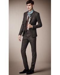 Burberry Prorsum - Brown Striped Jacquard Silk Tie for Men - Lyst