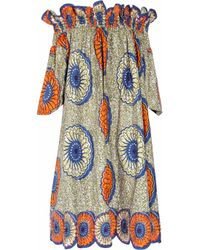 Easton Pearson | Blue Sea Urchin Printed Cotton Dress | Lyst