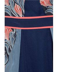 Jason Wu - Blue Floral-print Silk-chiffon Dress - Lyst