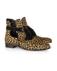 Marc Jacobs - Multicolor Animal-print Calf Hair Ankle Boots - Lyst
