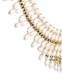 ASOS | Metallic Opaque Stone Bib Necklace | Lyst