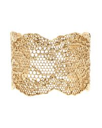 Aurelie Bidermann - Metallic Laser Cut Lace Cuff - Lyst