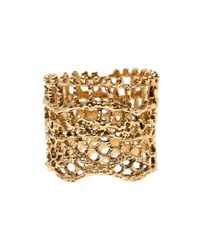 Aurelie Bidermann | Metallic Laser Cut Lace Ring | Lyst