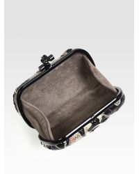 Bottega Veneta Multicolor Butterfly Mixedmedia Clutch