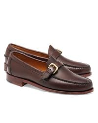 Brooks Brothers | Brown Rancourt & Co Calfskin Buckle Loafers for Men | Lyst
